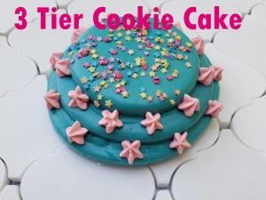 3 Tier Cookie Cake