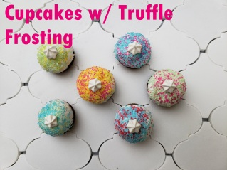 Cupcakes with Truffle style frosting